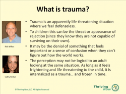 Trauma and the Primitive Brain-Thriving Now