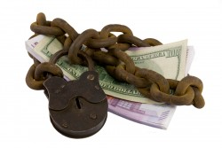 Shackled Money Under Lock And Key