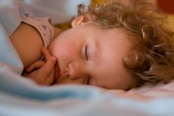 Serenely sleeping girl